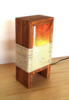 Some cool ideas here Rustic Light Fixtures, Rustic Lighting, Wooden Lamp, Wooden Diy, Craftsman Lamps, Scrap Wood Projects, Outdoor Sconces, Room Lamp, Diy Holz
