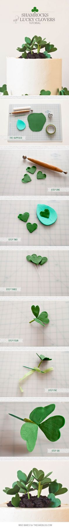 DIY Shamrock Cake | Tutorial by Miso Bakes for TheCakeBlog.com