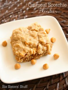 blondies oatmeal scotchie blondies from six sisters stuff 1 c butter ...