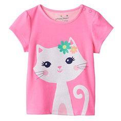 Jumping Beans® Glitter Kitten Tee - Baby Girl (3 mos) $5.99