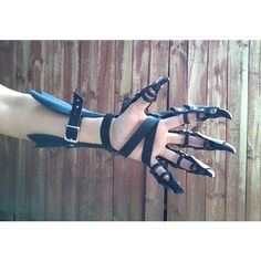 Claw Gloves, Dragon Claw Guantlets- Leather Armor Claws- PAIR ($245) ❤ liked on Polyvore featuring accessories, gloves, claw gloves, leather gloves and real leather gloves