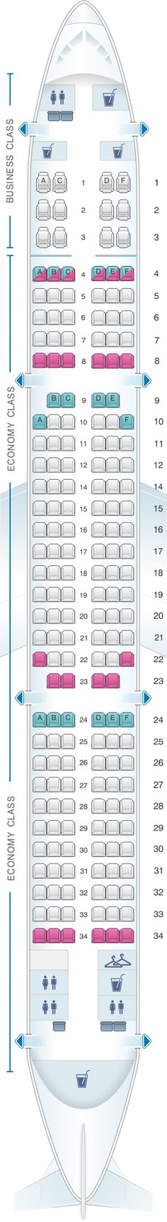 Seat Map Turkish Airlines Airbus A321 200