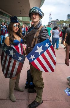 Characters USO Girl u0026 Captain America (Steve Rogers) / From MARVEL Studiou0027s · Ideas For Halloween CostumesBest Couples ...  sc 1 st  Pinterest & 57 best MARVEL Cosplay: Captain America (Steven