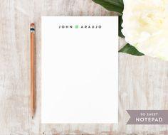 Personalized Notepad  MINIMALIST   Stationery / by CurioPress