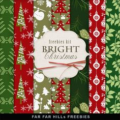 FREE Freebies Kit of Winter Backgrounds - Bright Christmas By Far Far Hill