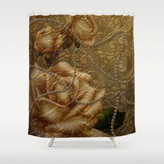 Wonderful decorative floral design Shower Curtain by Button Hole, Curtain Rods, Shower Curtains, Hooks, Floral Design, Artists, Printed, Usa, Bathroom