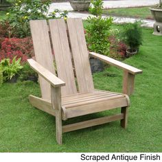 Bauanleitung Adirondack Chair als Gartenstuhl mit Bauplan. Selber ...
