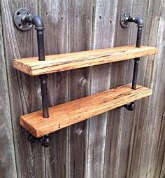 Reclaimed Premium Hardwood Double Bookshelf by iReclaimed on Etsy