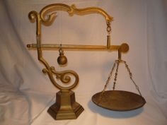 Antique Vintage Brass Scales  XL