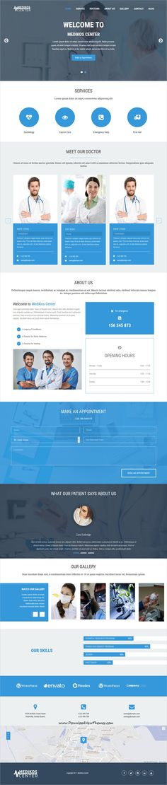 MediKos Center is clean and modern design 3in1 responsive #WordPress theme for #medical, pharmacy and #pediatric clinics #website to live preview & download click on Visit