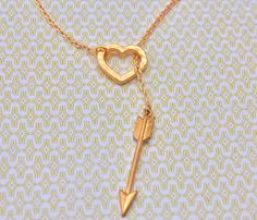 The Arrow and Heart necklace. $19