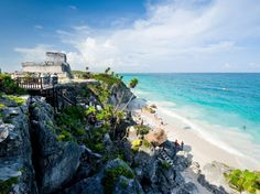 The Ideal Family Vacation in Mexico's Riviera Maya : Condé Nast Traveler. Ruins at Tulum.