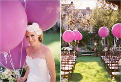 purple wedding balloons
