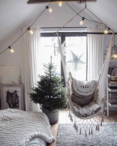 Hygge Winter - Scandinavian feel-good atmosphere for the cold days! The Hygge lifestyle celebrates the enjoyment of small things that feel warm . Living Room Remodel, Home Living Room, Home Decor Catalogs, Garden Table And Chairs, Tumblr Rooms, Living Room With Fireplace, Dream Rooms, New Room, Hanging Chair