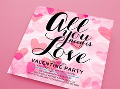 Valentine's Day Party Invites
