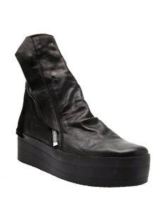 CINZIA ARAIA - Leather Platform Boot - CA220/110 GOTHAM ZIPPED BLACK - H. Lorenzo