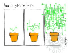 How To Grow An Idea | gapingvoid art