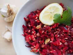 Čočkový salát s řepou Bruschetta, Vegetables, Ethnic Recipes, Food, Essen, Vegetable Recipes, Meals, Yemek, Veggies