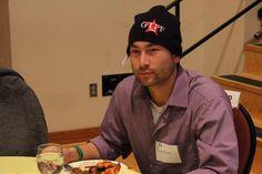 University of Oregon American English Institute - An int'l student enjoying the New Student Orientation Luncheon. studyusa.com