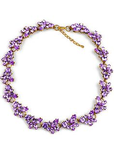 7.93 Purple Gemstone Gold Chain Necklace
