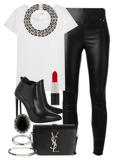 A fashion look from July 2015 featuring white t shirt, legging pants and black leather boots. Browse and shop related looks. Look Fashion, Luxury Fashion, Fashion Outfits, Womens Fashion, Fashion Trends, Looks Jeans, Casual Outfits, Cute Outfits, Weekend Wear