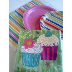 Sweet and Sassy (Set 1) Cupcake Party Theme Girls Birthday Party Package (Tableware Set) ~ Dinner Plates, Dessert Plates, Napkins, and Table Cover ~ Serves 20 (Toy)  http://ww8.cookhousesinks.com/redirector.php?p=B007JN74E6  B007JN74E6