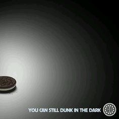 You can still dunk in the dark #Oreo #ad #advertising