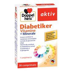 Diabetiker vitamine - tablete cu vitamine, minerale și oligoelemente pentru diabetici. Nu contin lactoză.    Cromul (trivalent) contribuie la menținerea nivelurilor normale de glucoză d...