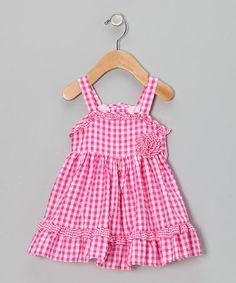 Love this Fuchsia Gingham Seersucker Dress - Infant & Toddler by Rosenau Beck on #zulily! #zulilyfinds