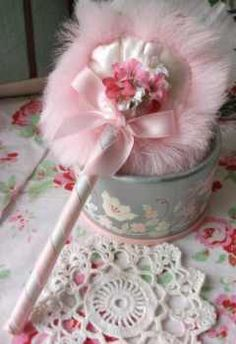 Vintage Powder Puff. I remember these and want one!!!!