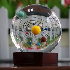 Solar System Clear Crystal Ball -- #gifts #gadgets #geeky #shopping #funny #family #home #men #women #kids #giftidea