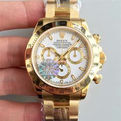Rolex Daytona 116508 Yellow Gold JF 1:1 Best Edition White Dial A7750