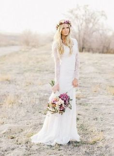 Modest Wedding Dresses For Church Weddings | HappyWedd.com #PinoftheDay #modest…