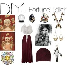 DIY fortune teller costume, created by youknowyoulovefashion on #halloween| http://welcometohalloween132.lemoncoin.org