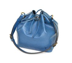 Authentic Louis Vuitton Petit Noe Epi Leather Drawstring Shoulder Bag Purse / FREE SHIPPING by mysunnystore. Explore more products on http://mysunnystore.etsy.com