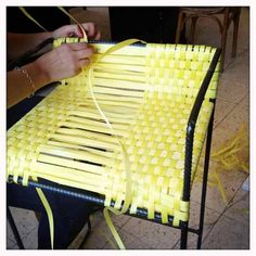 Weaving plastic packaging strap