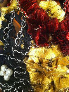 Yiousouri Thessaloniki, Fabric Jewelry, Jewelry Shop, Greece, Wreaths, Halloween, Diy, Decor, Greece Country