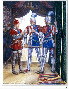 Guards of Charles the Bold & Soldier of  Antoine, Grand Bastard of Burgundy, 1475