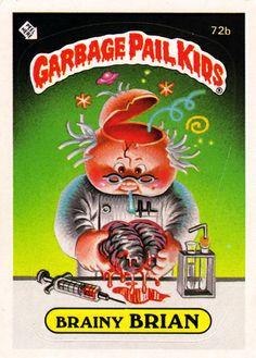 Garbage Pail Kids - Brainy Brian