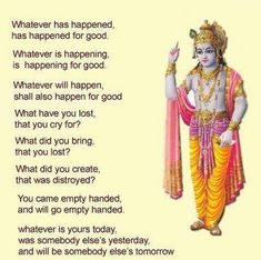 Bhagavad-Gita is called the Song of God. by krishna lovers Hindu Quotes, Krishna Quotes, Religious Quotes, Spiritual Quotes, Spiritual Enlightenment, Spiritual Thoughts, Spiritual Awakening, Positive Thoughts, Positive Quotes