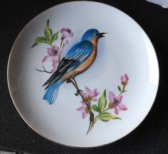 "Beautiful Lefton Blue Bird Collector Plate 4424   eBay    MEASURES: APPROX. 8 1/2"" IN DIAM."