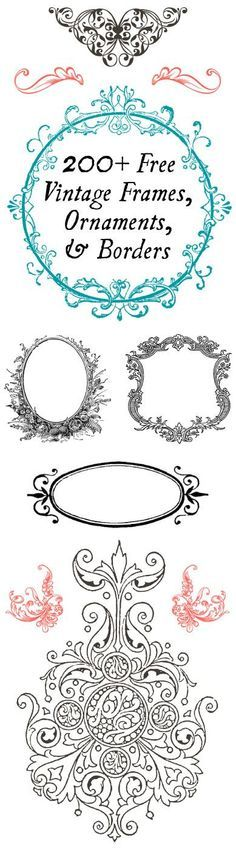 200+ Free Printable Vintage Frames, Ornaments, And Borders - Perfect For Diy Projects!°°