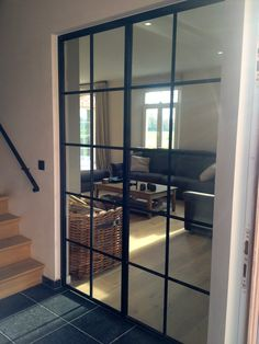 stalen deur INCEE front room to extension doors? (to match stair banister? Style At Home, Room Interior, Interior Design Living Room, Cosy House, Home Living Room, Interior Architecture, Home Fashion, Building A House, New Homes