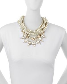 Y2Q8K Lulu Frost Lustre Multi-Strand Statement Necklace