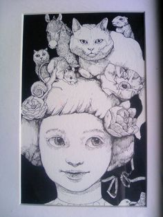 Crazy Cat Lady, Crazy Cats, Colouring Pages, Coloring, Japanese Artwork, Moleskine, Line Art, Weird, Doodles