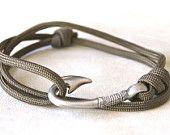 Fish Hook Bracelet - Brown Suede. $20.00, via Etsy.