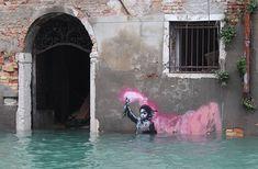 Behind The Scenes By banksy Street Art Banksy, Banksy Work, Graffiti History, Art History, Banksy Paintings, Art Paintings, Principles Of Art, Stencil Painting, Renaissance Art