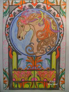 #creativehaven Art Nouveau Animal Designs #adultcoloringbook