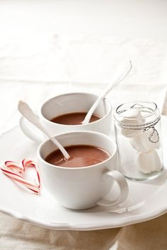Hot #chocolate and candy canes
