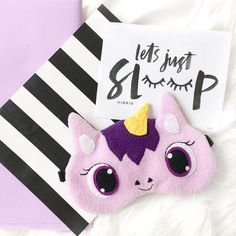Cute and funny sleep mask because what even is sleep? Unicorn Party, Unicorn Birthday, Cute Gifts, Diy Gifts, Purple Unicorn, Diy Bottle, Christmas Sewing, Foam Crafts, Diy Mask